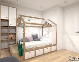 Pokój Ali - Średni biały pokój dziecka dla chłopca dla dziewczynki dla malucha, styl nowoczesny - zdjęcie od Zieja Interiors Design - Homebook