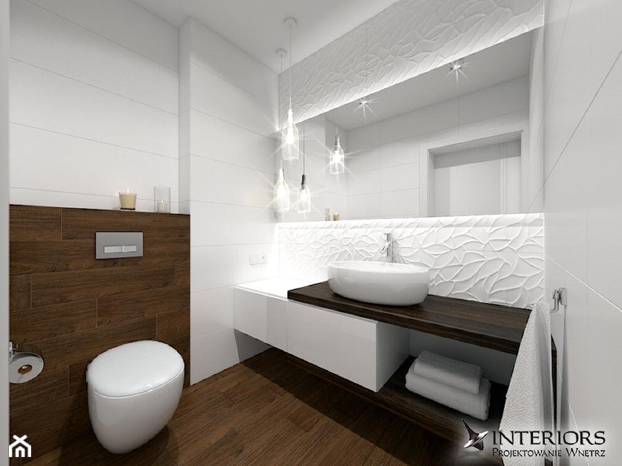 Aranżacje wnętrz - Łazienka: Łazienka Oxo - Średnia biała łazienka bez okna - Zieja Interiors Design. Przeglądaj, dodawaj i zapisuj najlepsze zdjęcia, pomysły i inspiracje designerskie. W bazie mamy już prawie milion fotografii!