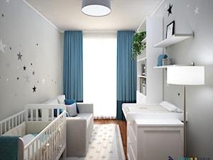 Pokój niemowlaka - Mały szary pokój dziecka dla chłopca dla niemowlaka, styl nowoczesny - zdjęcie od Totius Studio