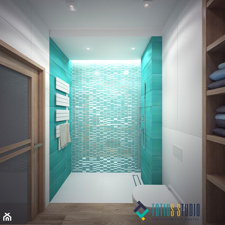 Biało Turkusowa łazienka Wersja 1 Zdjęcie Od Totius