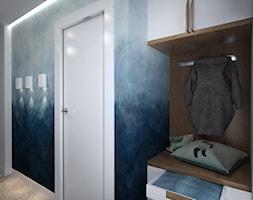 Dom pod Wroclawiem - Średni niebieski hol / przedpokój, styl nowoczesny - zdjęcie od Totius Studio