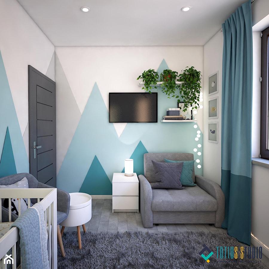 Aranżacje wnętrz - Pokój dziecka: Pokój dla noworodka - Mały biały zielony pokój dziecka dla chłopca dla dziewczynki dla niemowlaka, styl nowoczesny - Totius Studio. Przeglądaj, dodawaj i zapisuj najlepsze zdjęcia, pomysły i inspiracje designerskie. W bazie mamy już prawie milion fotografii!