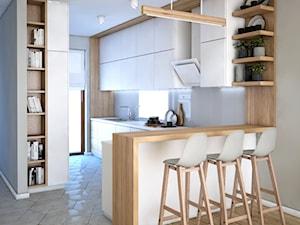 Kuchnia biało drewniana - zdjęcie od Totius Studio