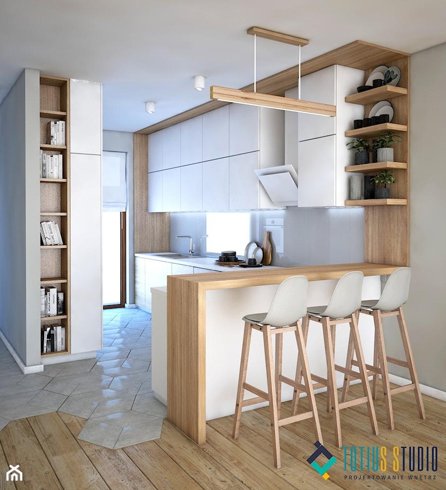 Kuchnia Biało Drewniana Zdjęcie Od Totius Studio Homebook