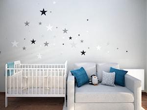 Pokój niemowlaka - Mały szary pokój dziecka dla chłopca dla dziewczynki dla niemowlaka, styl nowoczesny - zdjęcie od Totius Studio