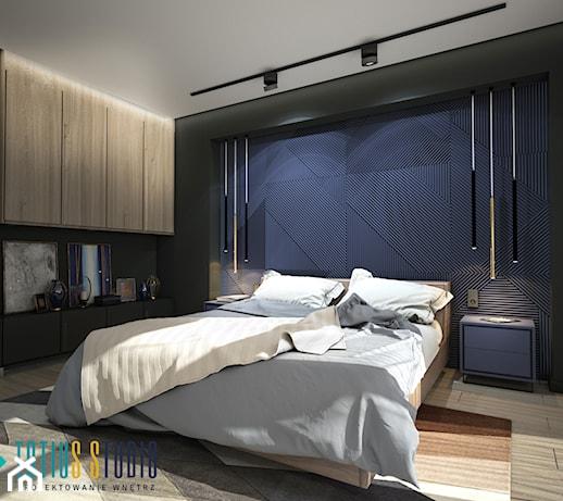 Sypialnia Z Niebieskim Dekorem Zdjęcie Od Totius Studio