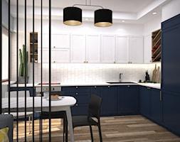 Kolory w mieszkaniu - Średnia otwarta kuchnia w kształcie litery l z oknem, styl nowoczesny - zdjęcie od Totius Studio