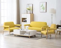 Średni biały salon, styl eklektyczny - zdjęcie od vidaXL - Homebook