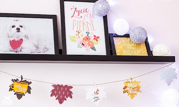 jesienne dekoracje z papieru