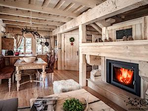 Chalet Nr 4 - Ornacki - Średnia otwarta jadalnia w salonie, styl rustykalny - zdjęcie od Górska Osada - Luxury Chalets in Tatra Mountains