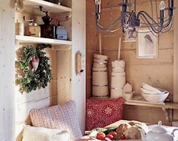 Chalet Nr 1 - Mniszkowy Zapiecek - Mała zamknięta jadalnia jako osobne pomieszczenie, styl rustykalny - zdjęcie od Górska Osada - Luxury Chalets in Tatra Mountains