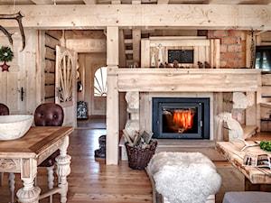 Chalet Nr 4 - Ornacki - Średni duży salon, styl rustykalny - zdjęcie od Górska Osada - Luxury Chalets in Tatra Mountains