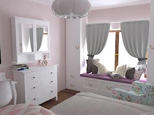 Dom Nisko/k.Stalowej Woli - Mały różowy pokój dziecka dla chłopca dla dziewczynki dla ucznia dla malucha dla nastolatka, styl prowansalski - zdjęcie od Studio WYMIAR