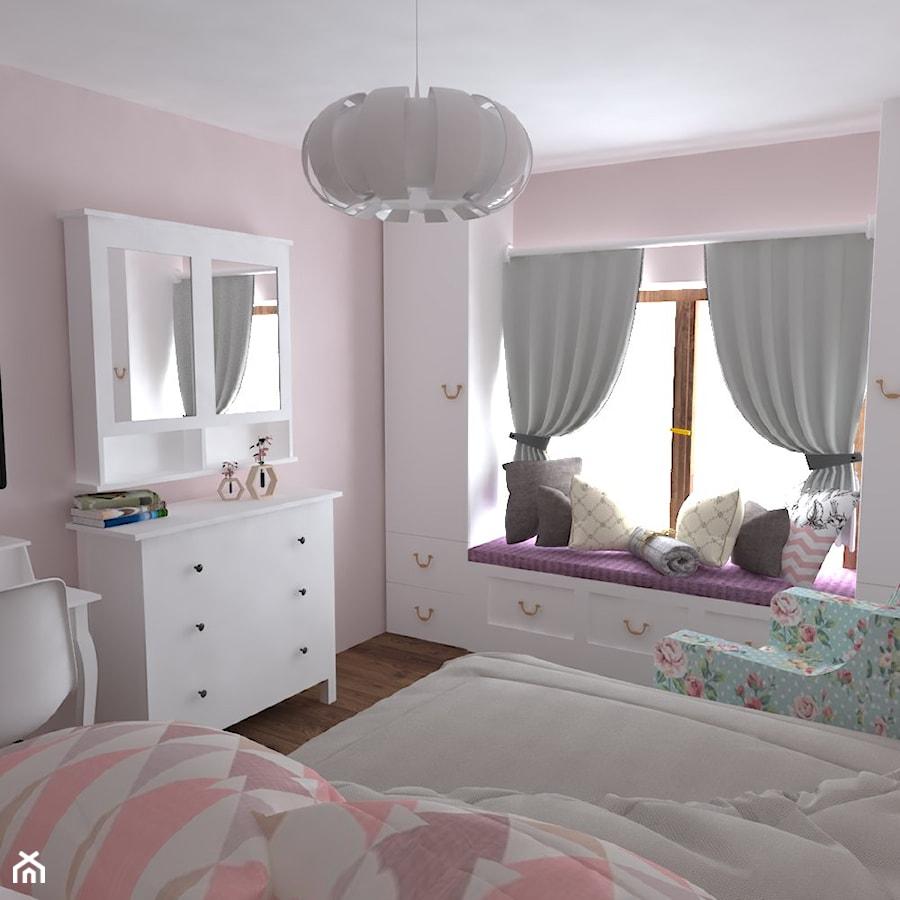 Aranżacje wnętrz - Pokój dziecka: Dom Nisko/k.Stalowej Woli - Mały różowy pokój dziecka dla chłopca dla dziewczynki dla ucznia dla malucha dla nastolatka, styl prowansalski - Studio WYMIAR. Przeglądaj, dodawaj i zapisuj najlepsze zdjęcia, pomysły i inspiracje designerskie. W bazie mamy już prawie milion fotografii!