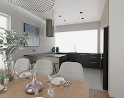 Drewniano+grafitowa+kuchnia+z+dodatkiem+z%C5%82ota+-+zdj%C4%99cie+od+Studio+WYMIAR