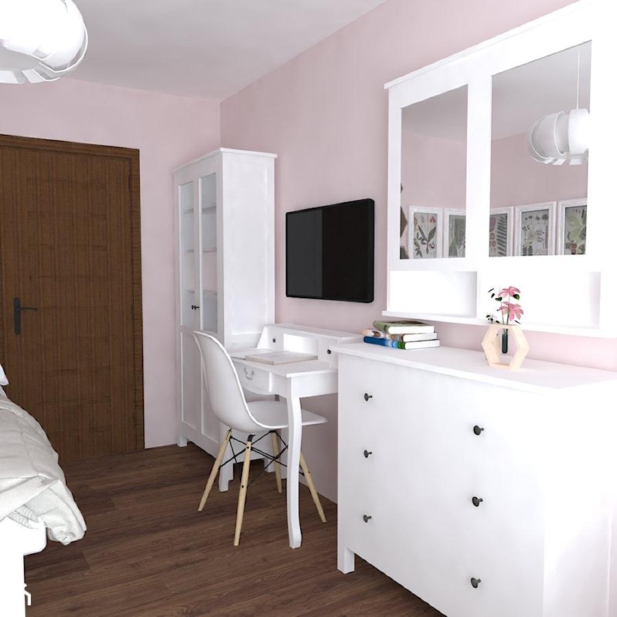 Dom Nisko/k.Stalowej Woli - Mały różowy pokój dziecka dla dziewczynki dla ucznia dla malucha dla nastolatka, styl prowansalski - zdjęcie od Studio WYMIAR