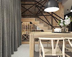 PROJEKT INDUSTRIALNO-RUSTYKALNY 55m2 - Jadalnia, styl industrialny - zdjęcie od SYMETRIA | pracownia architektury