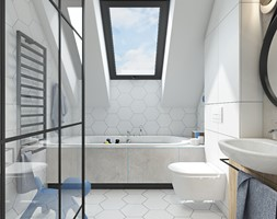 PROJEKT W17 etap II - Łazienka, styl nowoczesny - zdjęcie od SYMETRIA | pracownia architektury - Homebook