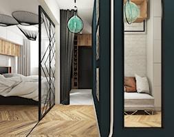MIESZKANIE 48m2 // BUK - Średni biały zielony hol / przedpokój, styl eklektyczny - zdjęcie od SYMETRIA | pracownia architektury
