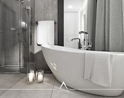 ŁAZIENKA SALONOWA - Mała łazienka, styl nowoczesny - zdjęcie od SYMETRIA | pracownia architektury