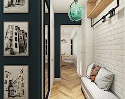 MIESZKANIE 48m2 // BUK - Mały biały zielony hol / przedpokój, styl eklektyczny - zdjęcie od SYMETRIA | pracownia architektury