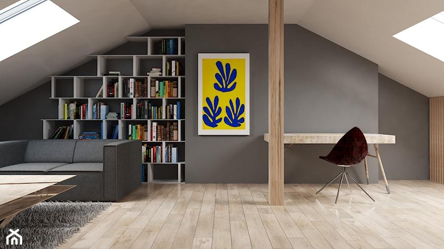 Aranżacje wnętrz - Biuro: Poddasze - Brzozowski Architecture. Przeglądaj, dodawaj i zapisuj najlepsze zdjęcia, pomysły i inspiracje designerskie. W bazie mamy już prawie milion fotografii!