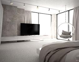 DOM JEDNORODZINNY / CZĘSTOCHOWA 283M2 - Duża sypialnia małżeńska, styl nowoczesny - zdjęcie od wisniewskikuba - Homebook