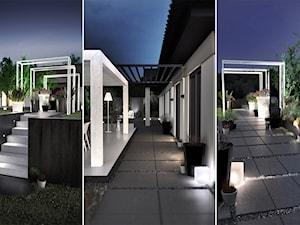 PROJEKT ZABUDOWY TARASOWEJ / PORAJ - Ogród, styl minimalistyczny - zdjęcie od wisniewskikuba