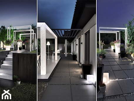 Aranżacje wnętrz - Ogród: PROJEKT ZABUDOWY TARASOWEJ / PORAJ - Średni ogród za domem z pergolą, styl minimalistyczny - wisniewskikuba. Przeglądaj, dodawaj i zapisuj najlepsze zdjęcia, pomysły i inspiracje designerskie. W bazie mamy już prawie milion fotografii!
