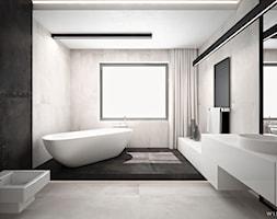 DOM JEDNORODZINNY / CZĘSTOCHOWA 283M2 - Duża łazienka w domu jednorodzinnym z oknem, styl nowoczesny - zdjęcie od wisniewskikuba - Homebook