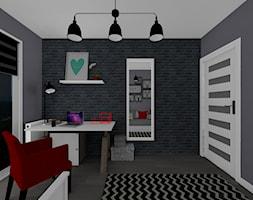 mieszkanie 59 m2 - Mały czarny pokój dziecka dla chłopca dla dziewczynki dla ucznia dla nastolatka - zdjęcie od BushkoProjekt