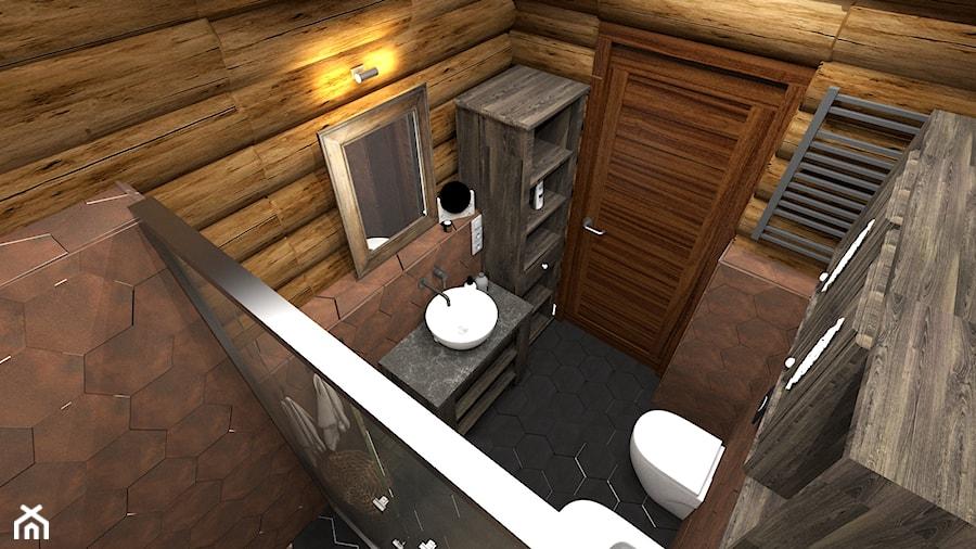 Dom z bali - łazienka - zdjęcie od Projekt44