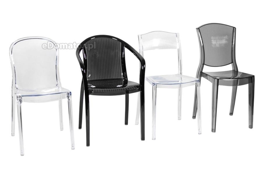 Transparentne Krzesła Plastikowe Z Poliwęglanu Zdjęcie Od