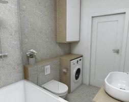 Łazienka - Pruszcz Gdański 2019 - Średnia biała szara łazienka w bloku w domu jednorodzinnym bez okna, styl nowoczesny - zdjęcie od WOJSZ studio