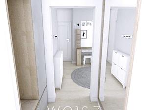 Mieszkanie w Gdańsku 2018 - Średni biały szary hol / przedpokój, styl skandynawski - zdjęcie od WOJSZ studio