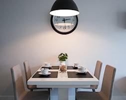 Realizacja - Czysty minimalizm - Mała otwarta jadalnia w kuchni w salonie, styl nowoczesny - zdjęcie od WOJSZ studio