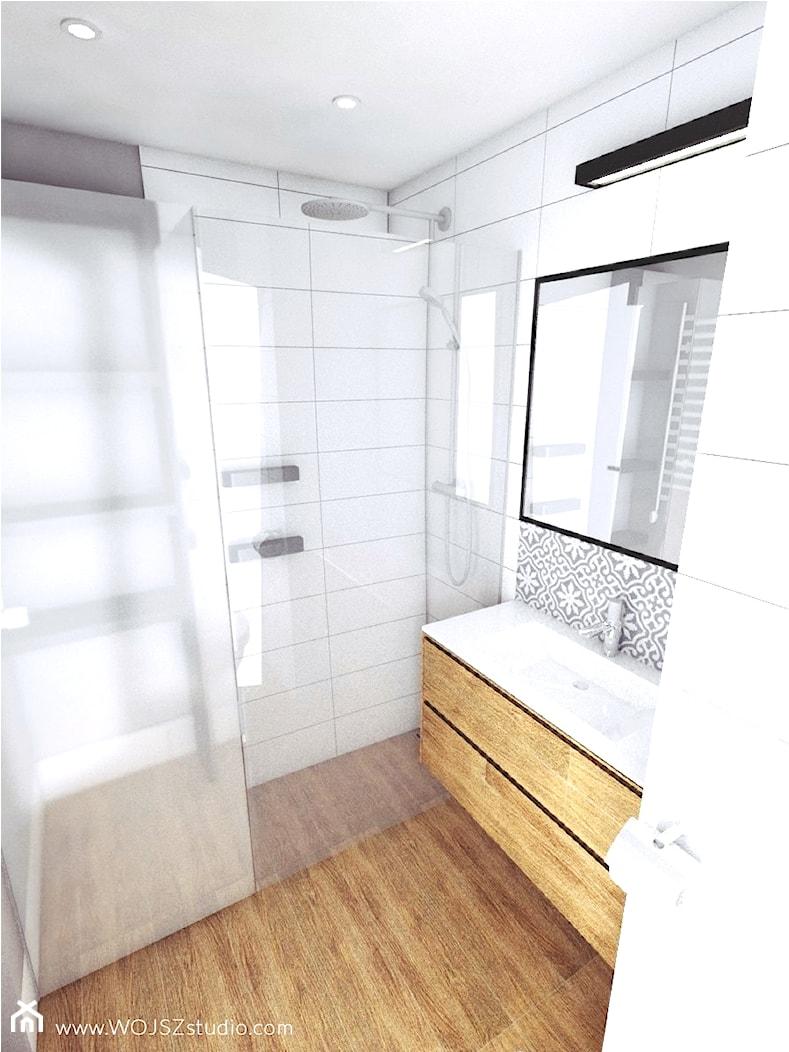 Granatowy akcent - Średnia łazienka, styl nowoczesny - zdjęcie od WOJSZ studio - Homebook