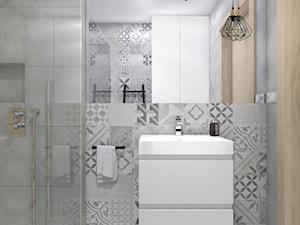 Dom jednorodzinny w Brzezie,Niepołomice - Mała łazienka w bloku w domu jednorodzinnym bez okna, styl rustykalny - zdjęcie od STUDIO PNIAK