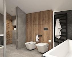 łazienka z wanną i prysznicem - zdjęcie od STUDIO PNIAK - Homebook