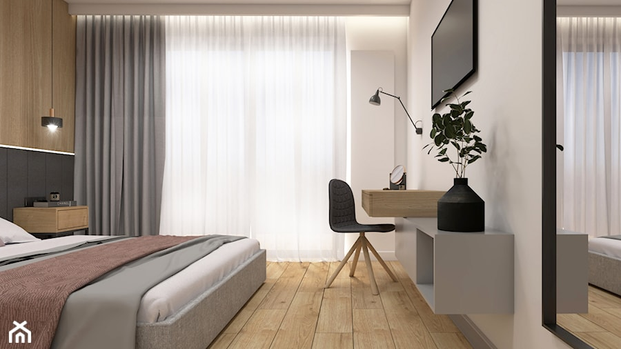 Sypialnia Z Dużym łóżkiem Zdjęcie Od Studio Pniak Homebook