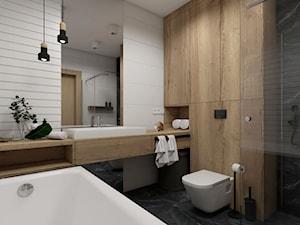Łazienka w bloku o pow. 5,75mkw. Wersja 2