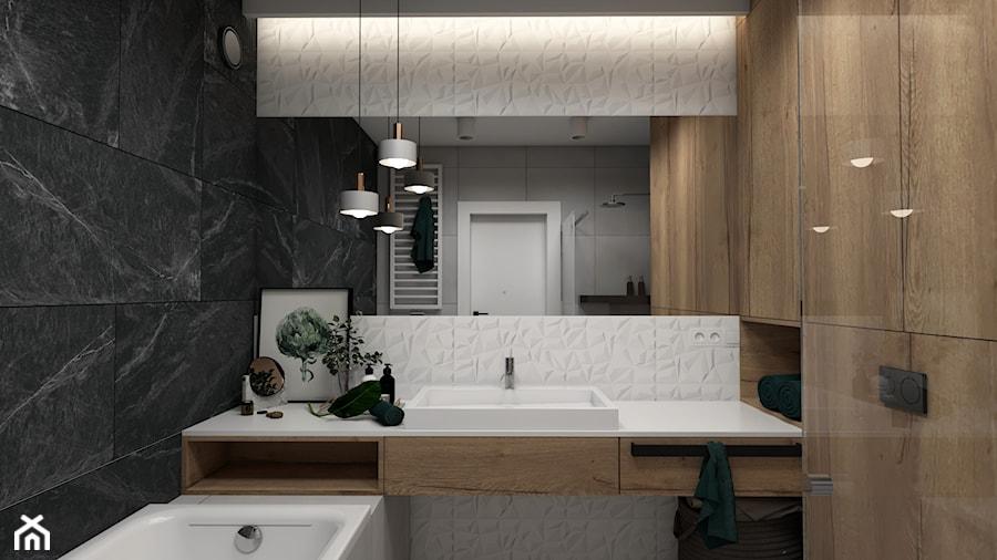 łazienka Białe Płytki 3d Zdjęcie Od Studio Pniak Homebook