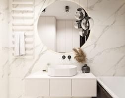Beżowe wnętrze - Łazienka, styl nowoczesny - zdjęcie od STUDIO PNIAK - Homebook