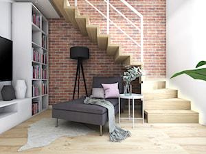 Dom 120m2,Brzezie - Schody, styl industrialny - zdjęcie od STUDIO PNIAK