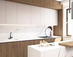 Beżowe wnętrze - Kuchnia, styl nowoczesny - zdjęcie od STUDIO PNIAK - Homebook