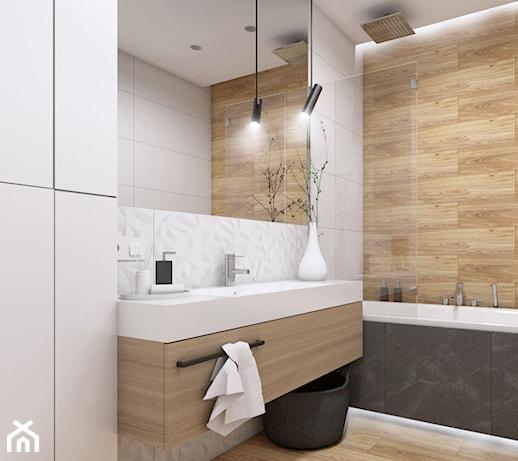 płytki drewnopodobne łazienka - pomysły, inspiracje z homebook