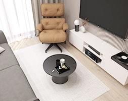 Beżowe wnętrze - Salon, styl nowoczesny - zdjęcie od STUDIO PNIAK - Homebook