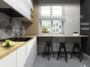 Mieszkanie w Gliwicach.Kuchnia z łazienką