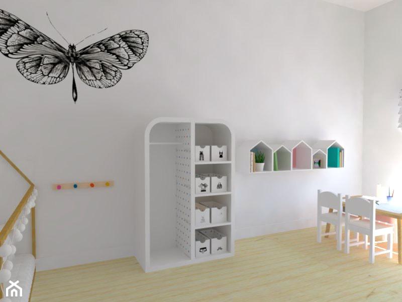 Aranżacje wnętrz - Pokój dziecka: Przykładowy pokój według Montessori - Makówka Design. Przeglądaj, dodawaj i zapisuj najlepsze zdjęcia, pomysły i inspiracje designerskie. W bazie mamy już prawie milion fotografii!