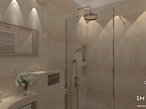 KLASYCZNIE - Średnia łazienka w bloku w domu jednorodzinnym bez okna, styl klasyczny - zdjęcie od SM STUDIO Projektowanie wnętrz